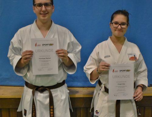 Zwei neue Karate Übungsleiter